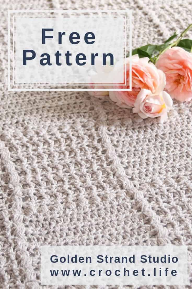 Crochet Baby Blanket Pattern With Soft Simple Textures