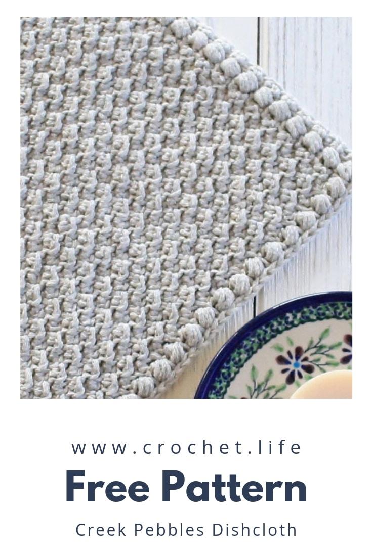 Easy Crochet Dishcloth With Puff Stitch Border
