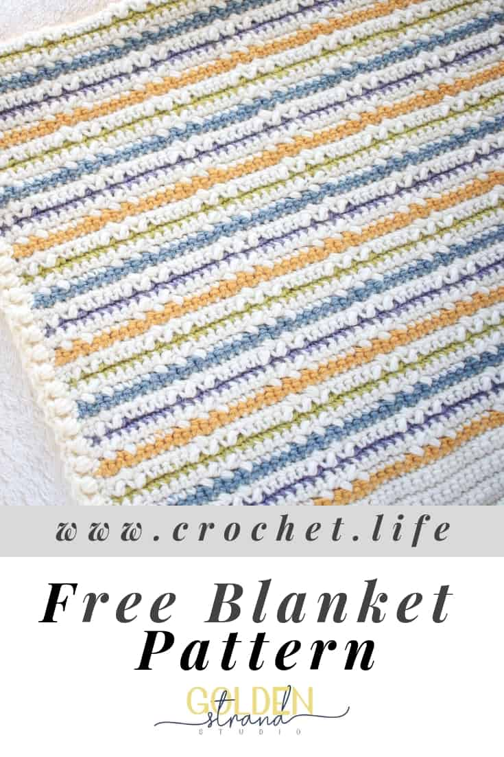 Free Crochet Blanket Pattern. Wundran Is Full of Color and Texture.