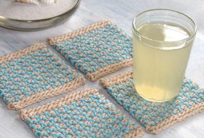 Interlaced Row Crochet Coasters