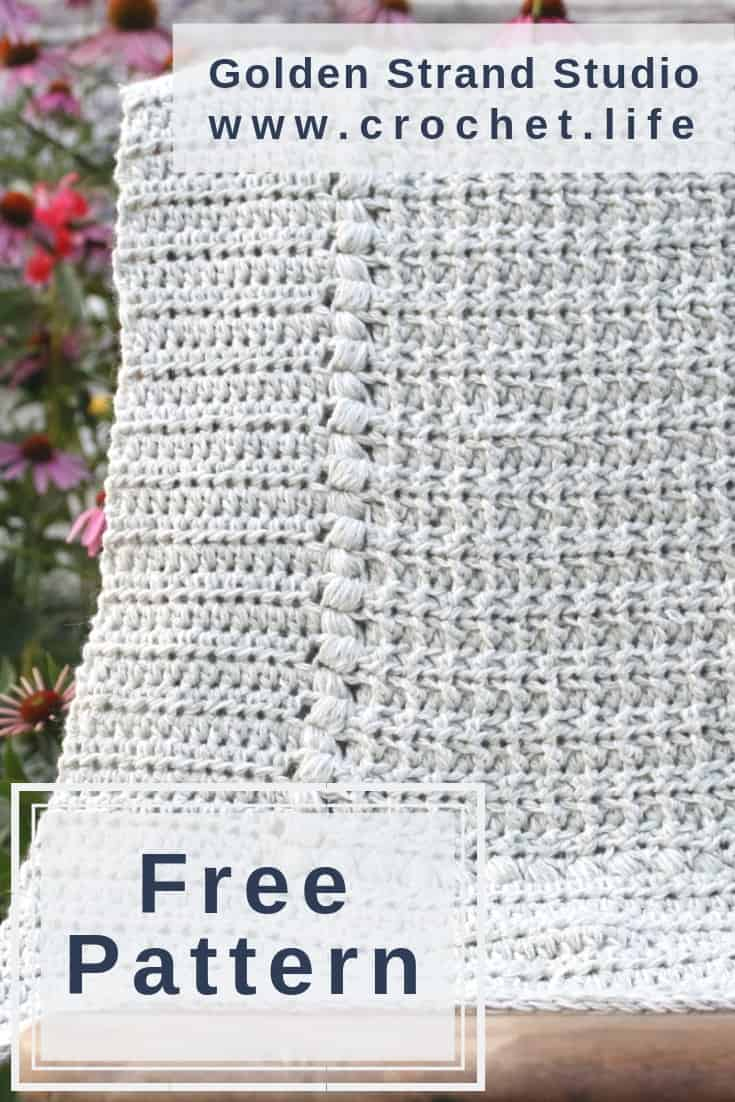 Easy Crochet Baby Blanket Pattern Project