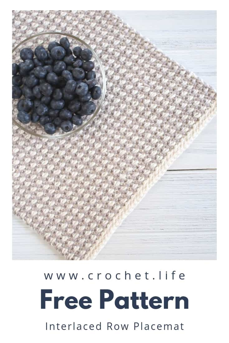 Simple Crochet Placemat Pattern