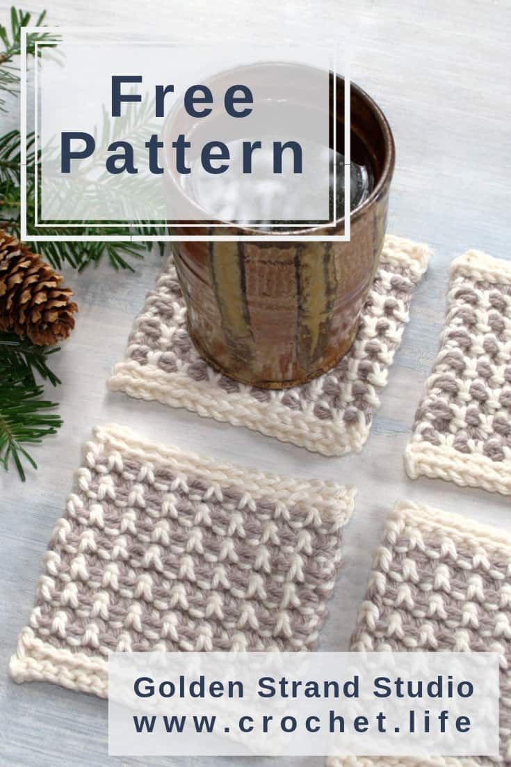 DIY Home Crochet Coaster Project