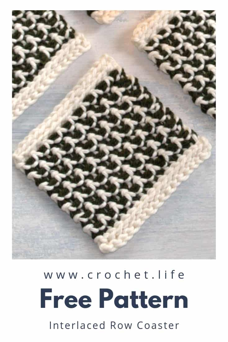 Simple Crochet Coaster DIY Pattern