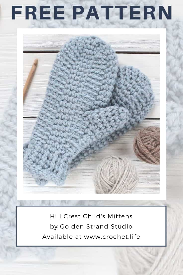 Free Child Size Crochet Mitten Pattern