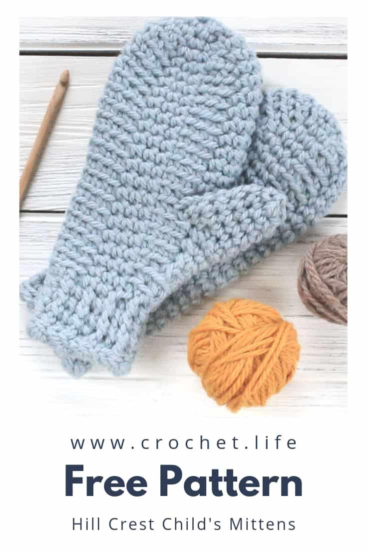 Adorable Kids Crochet Mittens