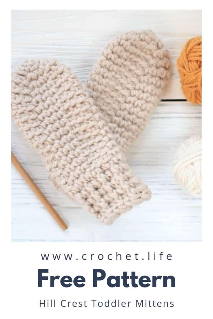 Easy Thumbless Crochet Toddler Mittens