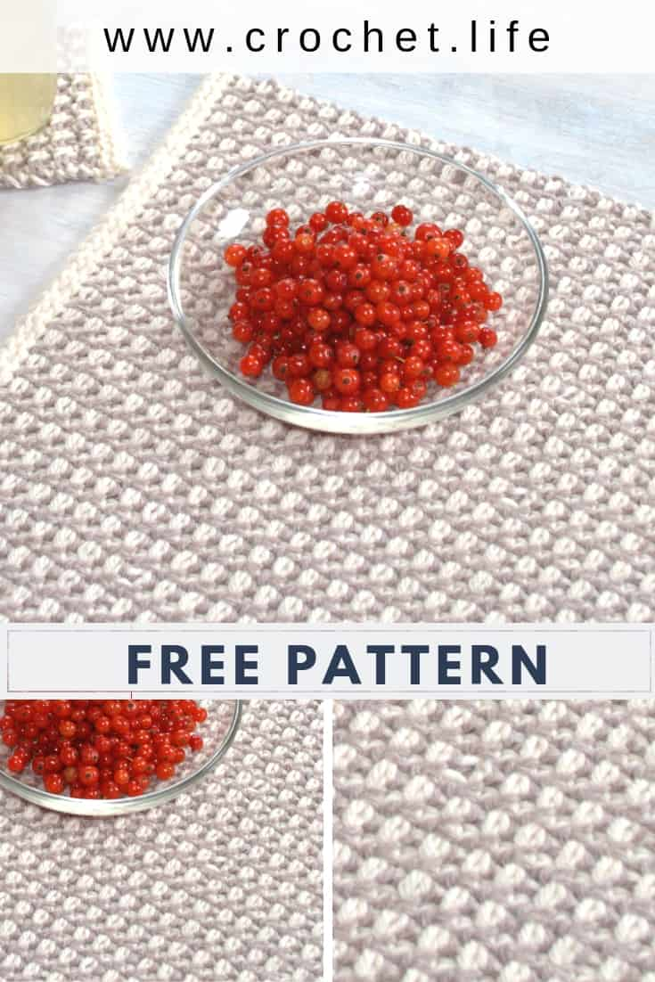 Free Interlaced Row Crochet Placemat Pattern