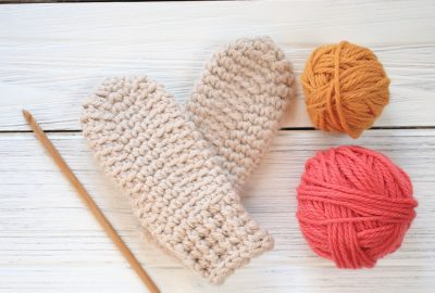 Hill Crest Toddler Mittens Crochet Pattern