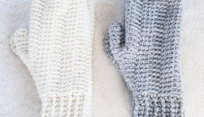 Hill Crest Crochet Mitten Adult Pattern