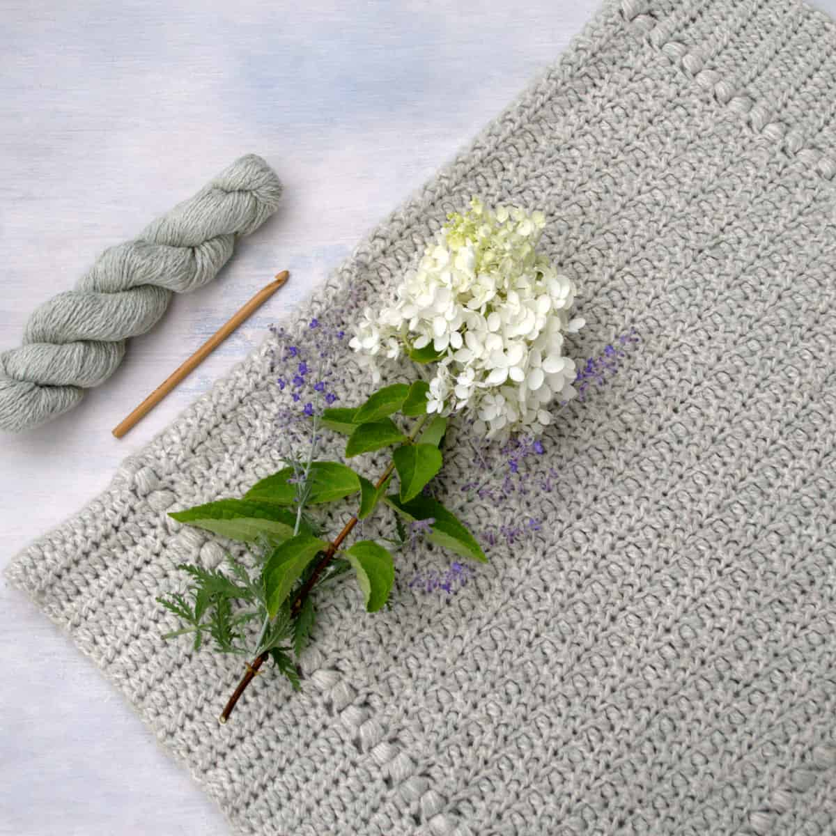 Meadow Sage Crochet Baby Blanket Pattern