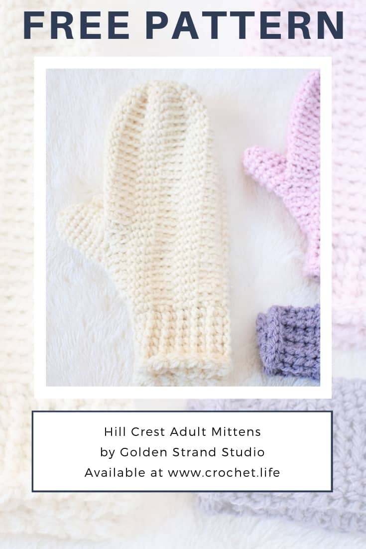 Women's Crochet Mitten Pattern with Simple Texture