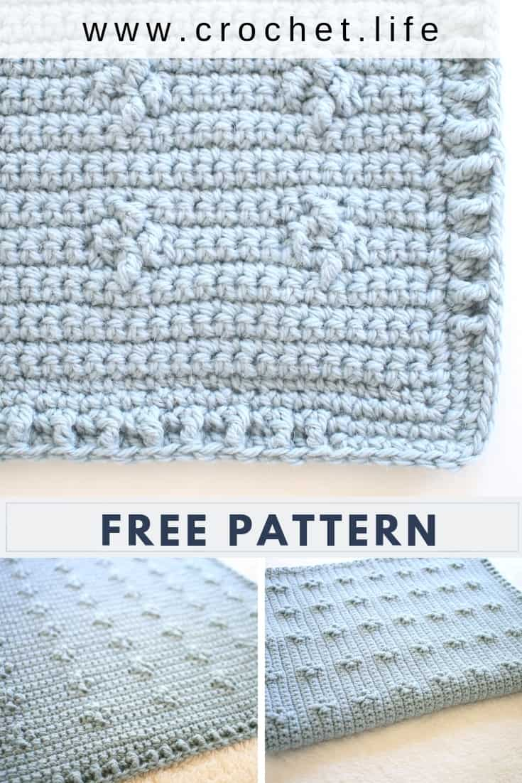 Free Blanket Pattern with Easy Stitches for Texture
