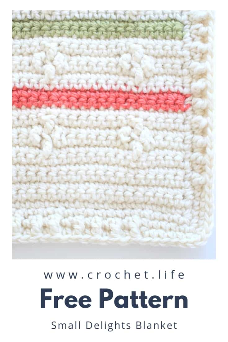 Crochet Blanket Pattern with Options for Multicolor or One Color