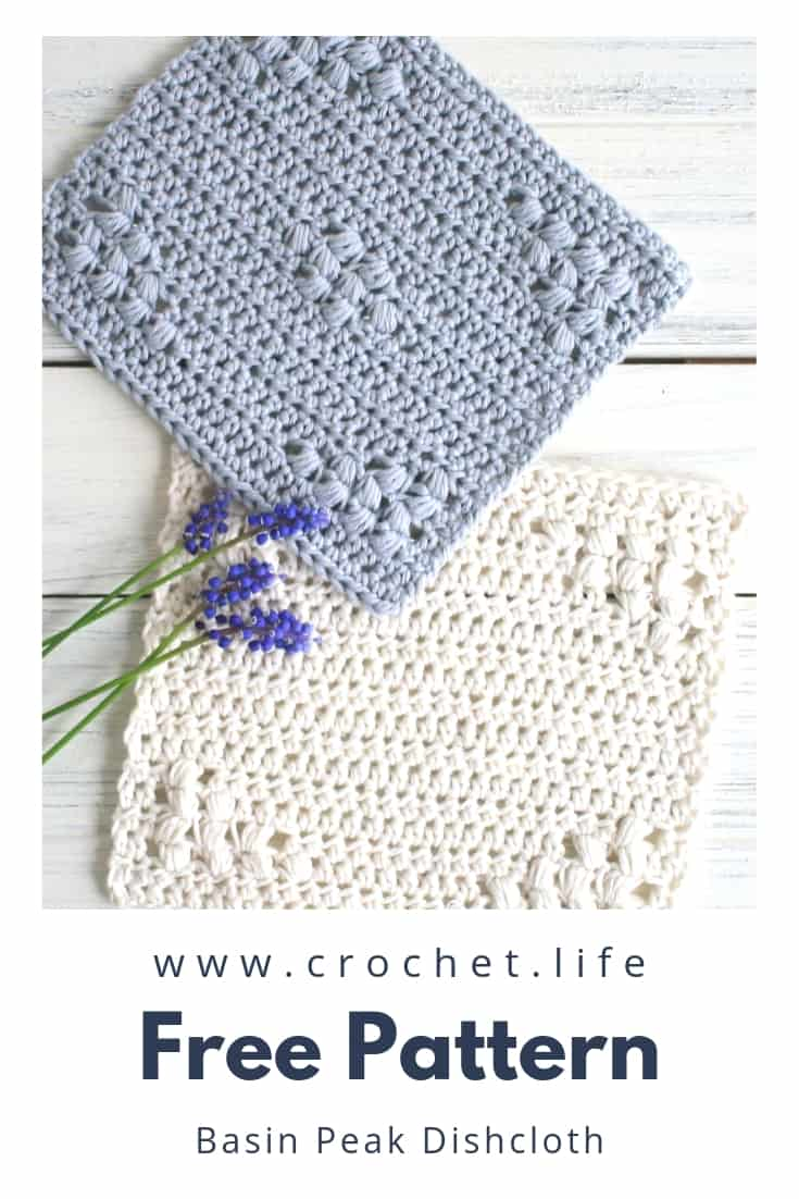 Free Crochet Dishcloth Patterns in 2 Styles