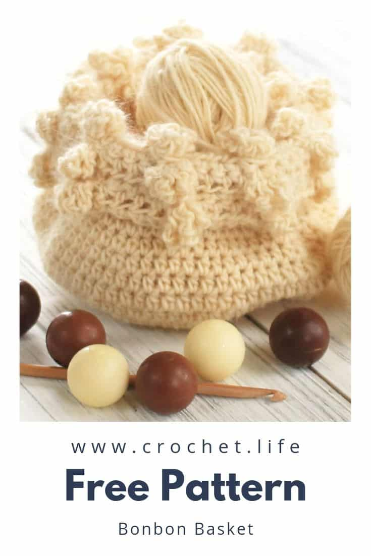 Easy Crochet Basket with Fun Cluster Stitches