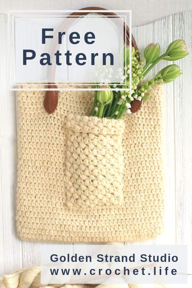 Simple Crochet Handbag Puff Stitch Pockets