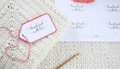 Handmade With Love Heart Gift Tags