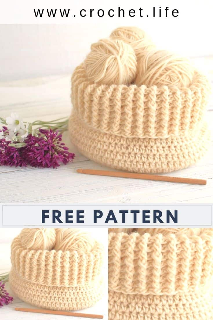 Easy DIY Crochet Basket Gift Idea