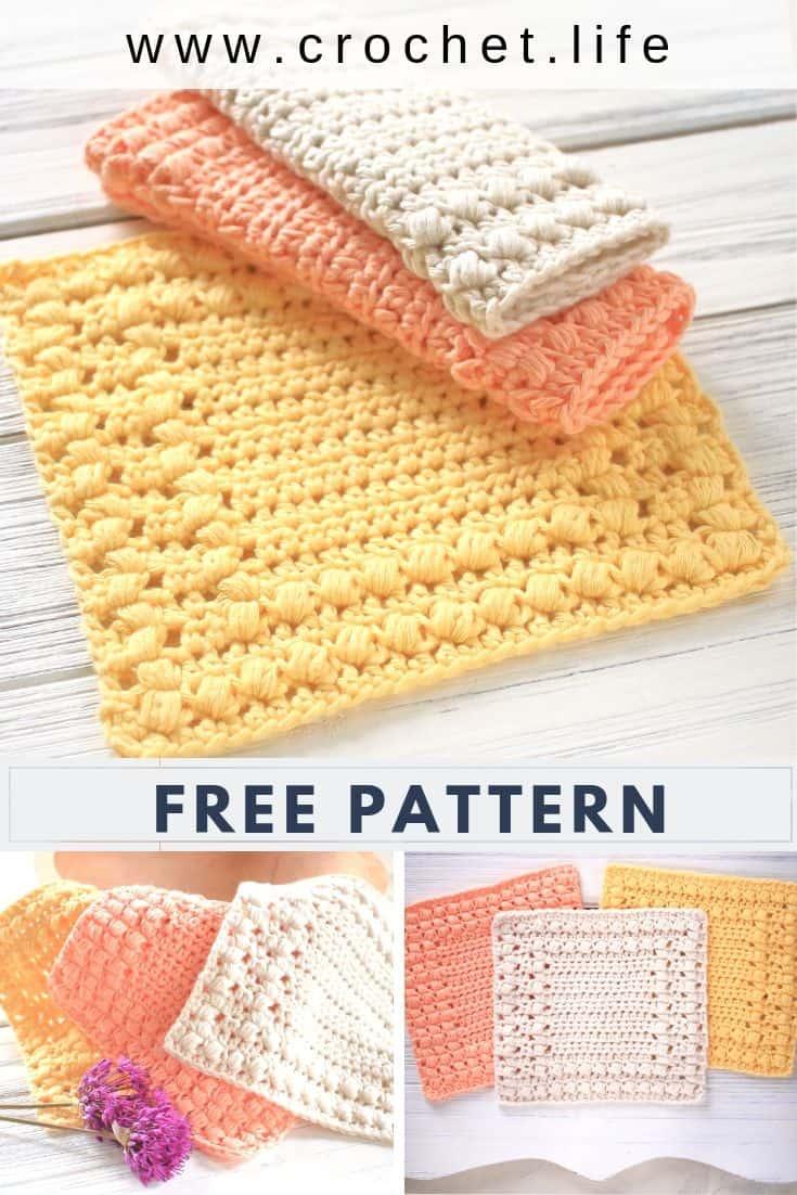 Easy Crochet Dishcloth Pattern Two Styles