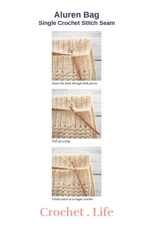 Aluren Bag Single Crochet Stitch Seam