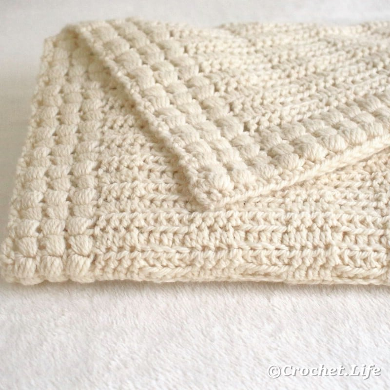 Baby blanket folded.