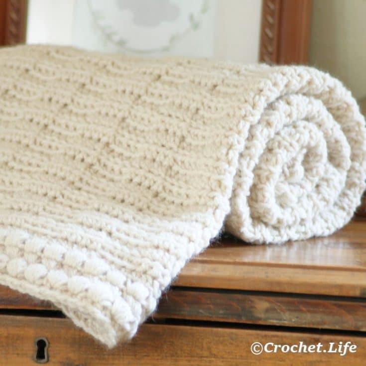 Simple Textured Crochet Baby Blanket Pattern
