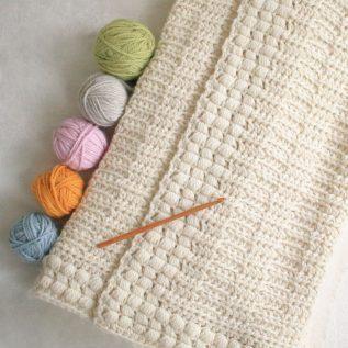 Simple Textured Crochet Blanket Pattern