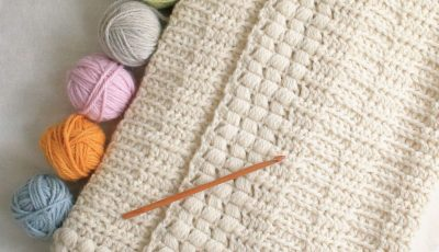 Simple Textured Crochet Blanket Pattern