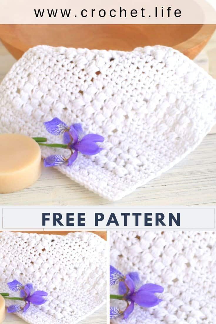 Crochet Dishcloth or Washcloth Free Pattern