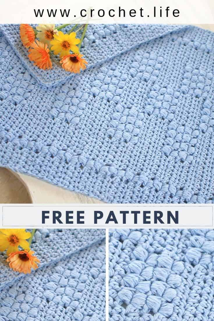 Easy Crochet Towel Simple Puff Stitch Texture