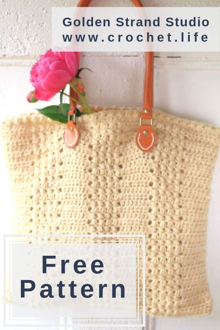 Easy Crochet Bag With Puff Stitches
